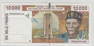 Banque Centrale Des Etats De L'afrique De L'ouest10000 F Lettre A Sup