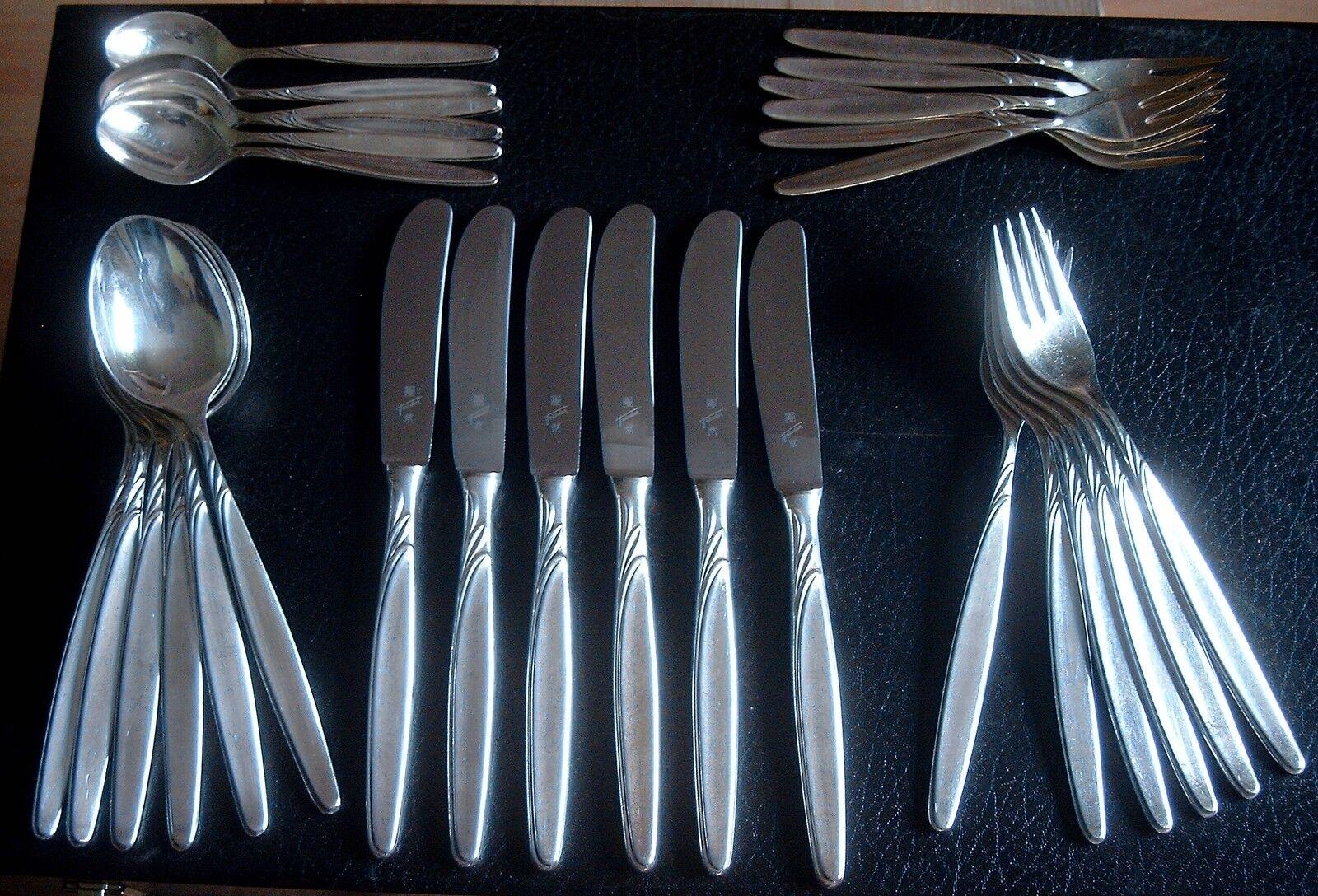 WMF Modell 4500 Rom 30 teilig, 6 6 6 Personen   90 er Silberauflage unbenutzt   Shop  e70509