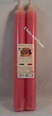 LUMEN Coppia di candele profumate a stelo profumo ALOE VERA 100/% Made in Italy