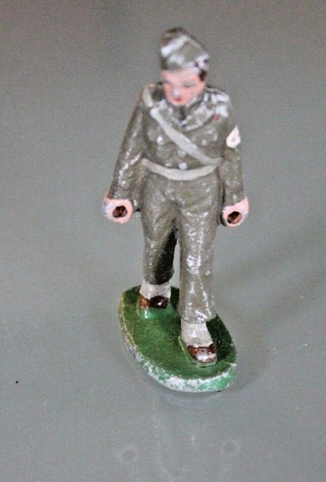 Quiralu Soldier Porter Service Health Toy Old Aluminium Years 60