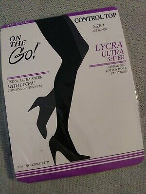 2 Pair Lot Vintage Champagne Knit Stockings Hosiery Classique Stockings 1 Size