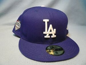 the latest d1f15 a323b Image is loading New-Era-59fifty-Los-Angeles-Dodgers-World-Series-