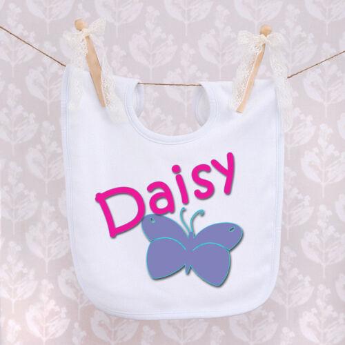 Personnalisé bébé bib-papillon design