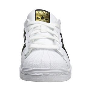 low priced ada94 6e734 Image is loading Adidas-Originals-Superstar-Sneaker-Big-Kid-White-Black-