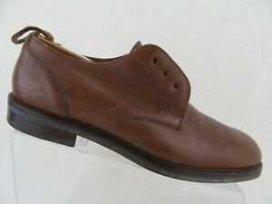 COACH-Made-in-Italy-Brown-Sz-10-M-Men-Plain-Toe-Derby-Dress-Shoes