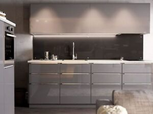 Details About 1 Ikea Ringhult Gloss Grey For Sektion Kitchen Cabinet Drawer Faces Gray 15 X5