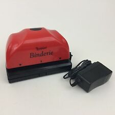 7 Gypsies Binderie Hole Puncher - Red 2 Holes w/ Power Adapter - Thick Material