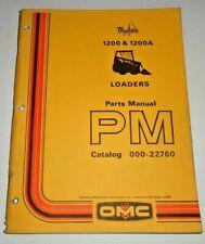 Mustang 1200 1200a Skid Steer Loader Parts Manual Catalog Book Original Owatonna