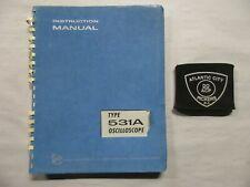 Tektronix Type 531a Oscilloscope Instruction Service Manual 070 130