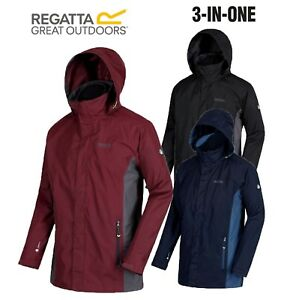 Regatta-Mens-Telmar-3in1-Waterproof-Outdoor-Hiking-Walking-Classic-Jacket-Coat