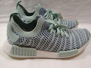 buy popular 6b17e 8ff61 Adidas NMD R1 Primeknit Boost Womens Running Shoes Green ...