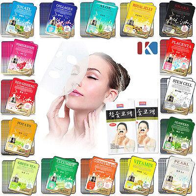 5pcs Korean Beauty Essence Facial Mask Sheet Moisture Face Mask Pack Skin Care