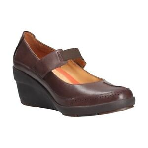 Wedge Clarks Sizes Various Heel Shoes Chelsea Brown Leather Ladies Un TTqOYxr