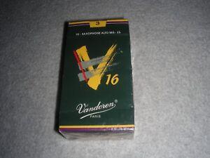 Charmant Vandoren V16 Saxophone Alto En Parfait état, Dans Sa Boîte-eb #3 Made In France (boîte De 10) Free Ship-afficher Le Titre D'origine