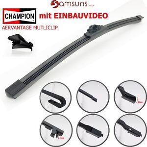 CHAMPION-Aerovantage-Flach-Heck-Scheibenwischer-hinten-Wischblatt-380mm-Combo