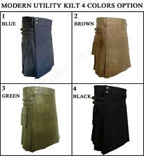 Modern Utility Kilt Heavy Cotton Kilt 4 Colors option Side pockets 30-50 Size