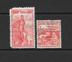 1939-King-George-VI-SG610-amp-SG612-HEALTH-STAMPS-Used-NEW-ZEALAND