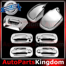 02-06 Chevy Avalanche Chrome FULL Piece Mirror+4 Door Handle KH+Tailgate Cover