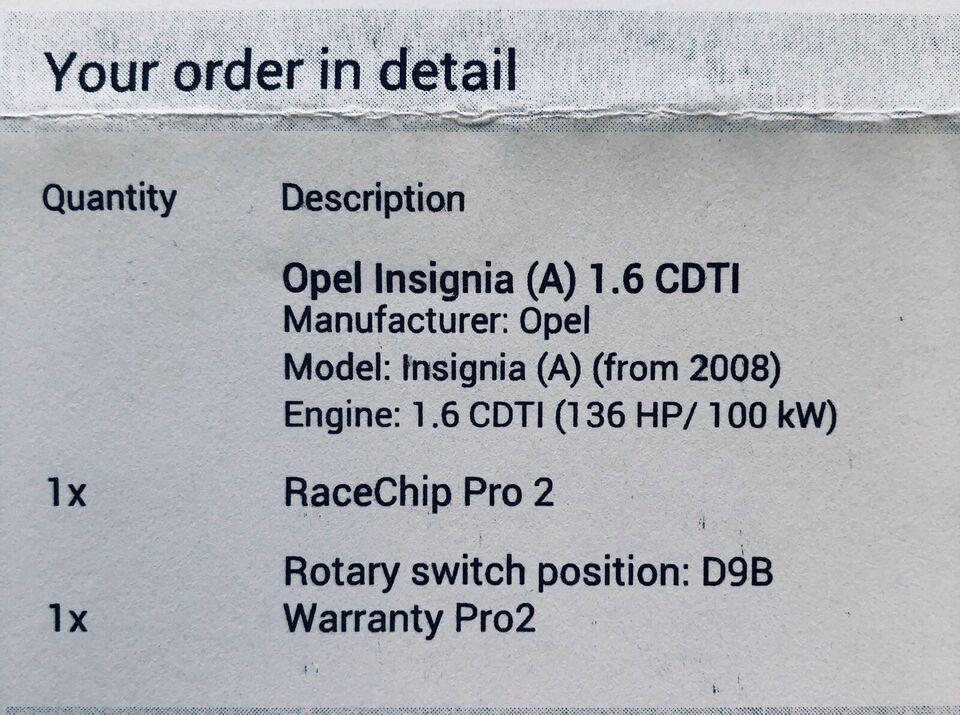 Chiptuning, Opel, Opel insignia