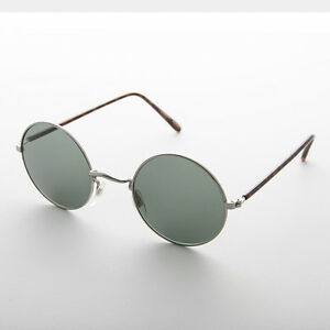 new product best loved quite nice Details about John Lennon Vintage Sunglass Silver Frame Glass Lens -Trinity