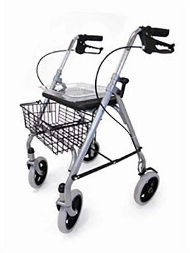 Drive Sr8 Folding 4 Wheeled Safety Rollator Walking Frame Seat Tray ...
