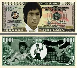 Bruce-Lee-Banknote-1-Million-Dollar-Series-Karate-Kung-Fu-Martial-Art-Wing-Chun