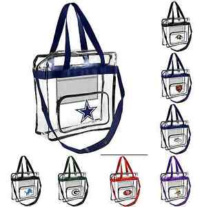 Image Is Loading Nfl 2017 Clear High End Messenger Bag Tote
