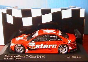 Mercedes Classe C # 7 Dtm 2008 Équipe Amg Paffett Minichamps 400083707 1/43 Stern
