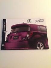 2014 Scion xD 28-page Accessories Original Sales Brochure