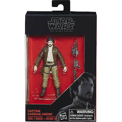 "Star Wars Hasbro #W4 Black Series 3.75"" Rogue One # Captain Cassian Andor NEW"