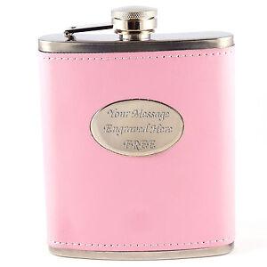 Personalised-Engraved-Pink-Ladies-Hip-Flask-7oz-Women-039-s-Bridesmaid-Gift-Mum