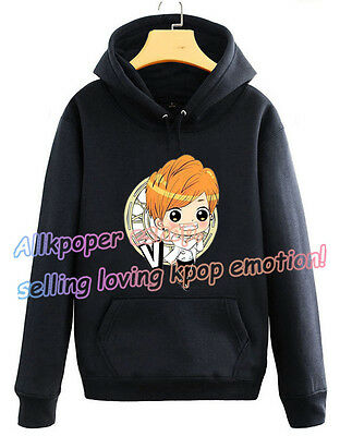 Bangtan Boys Cap Hoodie BTS Unisex Hoody Cute Cartoon Sweater Pullover V J-hope