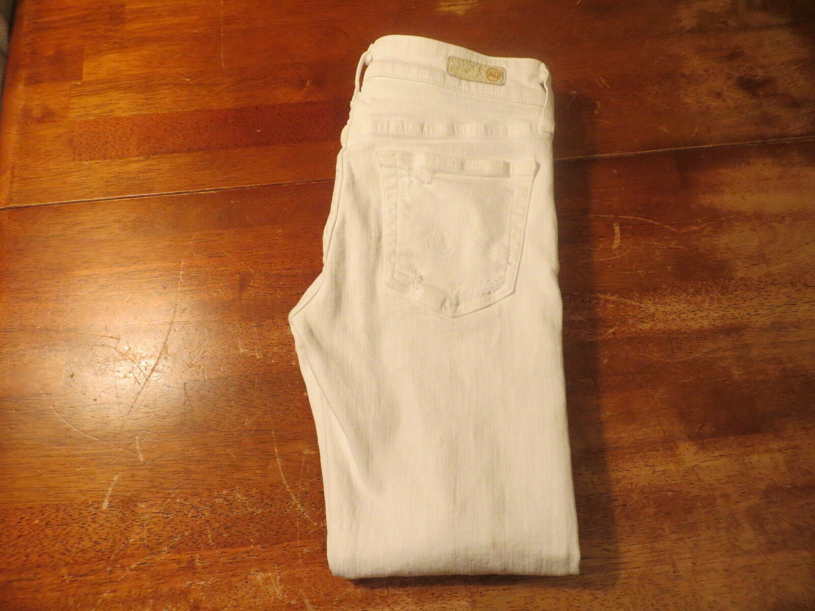 Adriano goldschmied  Ex Boyfriend crop White Destroyed jeans aged(NWOT) size 25