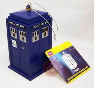 Doctor-Who-4-5-034-Blow-Mold-Xmas-Ornament-Tardis-NEW-Christmas-Tree-Decoration