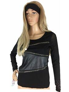 Lu-amp-Lu-Womens-Top-Chiffon-Leather-Slim-Fit-Long-Sleeveless-Backless-Small