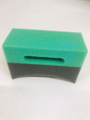 Tyre Dressing-Gel dressing applicateur éponge courbe mousse Pad X3