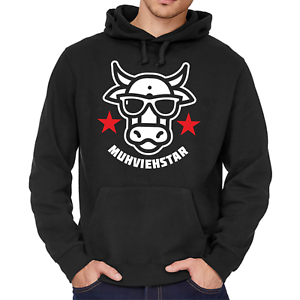 MUHVIEHSTAR-Moviestar-Spass-Lustig-Kuh-Cow-Fun-Kapuzenpullover-Hoodie-Sweatshirt