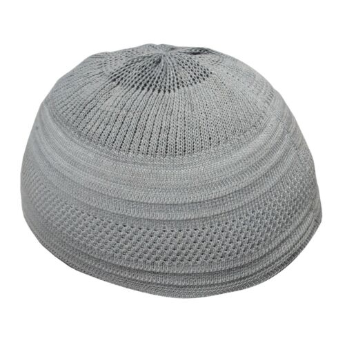 Comfortable Fit TheKufi Plain Gray Cotton Stretch-Knit Kufi Hat Skull Cap