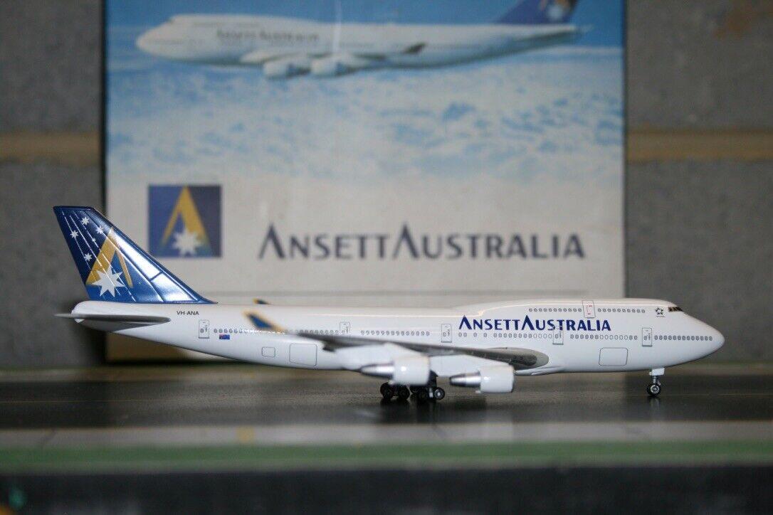 Dragon Wings 1 400 Ansett Boeing 747-400 VH-ANB (55213) Die-Cast Model Plane