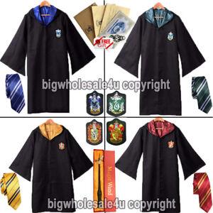 Harry-Potter-Gryffindor-Slytherin-Krawatte-Schal-LED-Wand-Cosplay-Kostuem