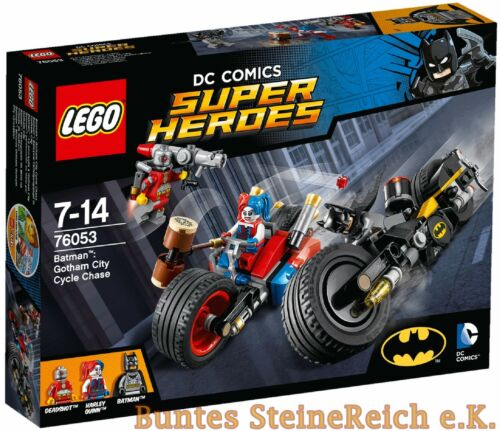 LEGO® SUPER HEROES Versand 76053 Batcycle-Verfolgungsjagd in Gotham NEU OVP 0.