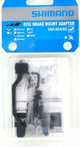 Shimano XTR SM-MA90-F180P//P Disc Brake Adapter Front 180mm PM Caliper /& Fork