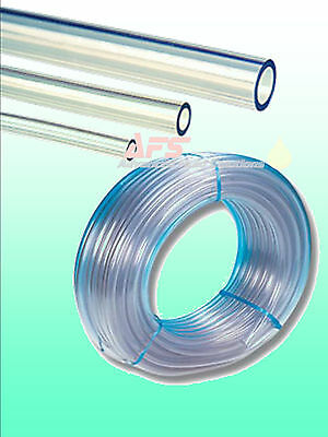 Clear PVC UNREINFORCED Flexible Tubing Hose Pipe Water Tube Air Pond Pump line