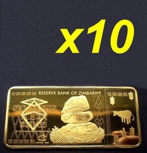 10-Pieces-Zimbabwe-100-Trillion-Dollars-Gold-Bullion-Bar-Zm1G10