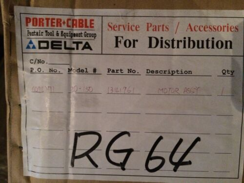 """NOS Delta 20-150 Type 1 14/"""" Cut Off Saw Motor Assembly p//n 1341761"""