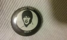 "JOHN LENNON ""WHY?"" Pin Back Button - Extremely RARE - VTG"