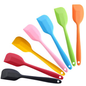 Baking Spatula Mini Small Silicone Spatula Heat Reistant Icing Spoon Scraper X1