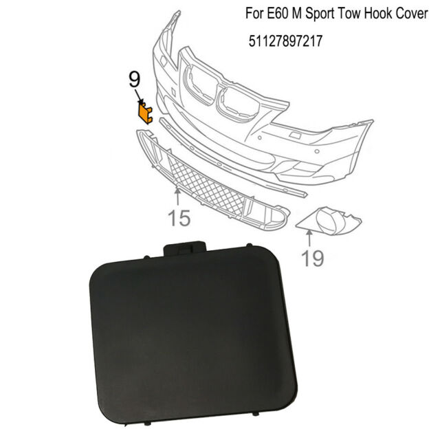 95- BMW 3 E36 NEW GENUINE FRONT M SPORT BUMPER TOW HOOK EYE COVER CAP 2265639