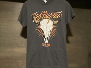 ted nugent 2016 tour t shirt new nwot short sleeve gray size small mens ebay. Black Bedroom Furniture Sets. Home Design Ideas