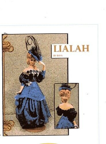 1:12 scale Miniature Doll Art Tutorial By DANA Pattern//Clothes//Hair LIALAH